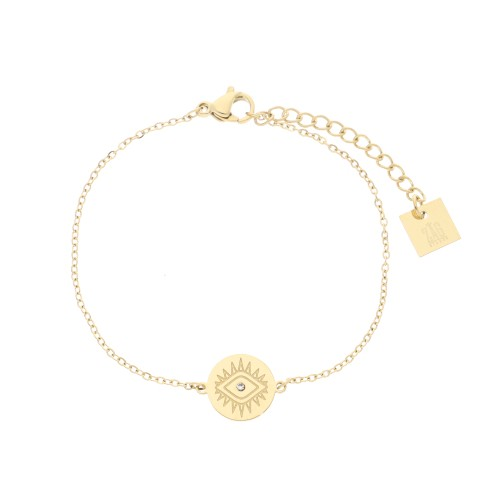 Bracelet acier doré